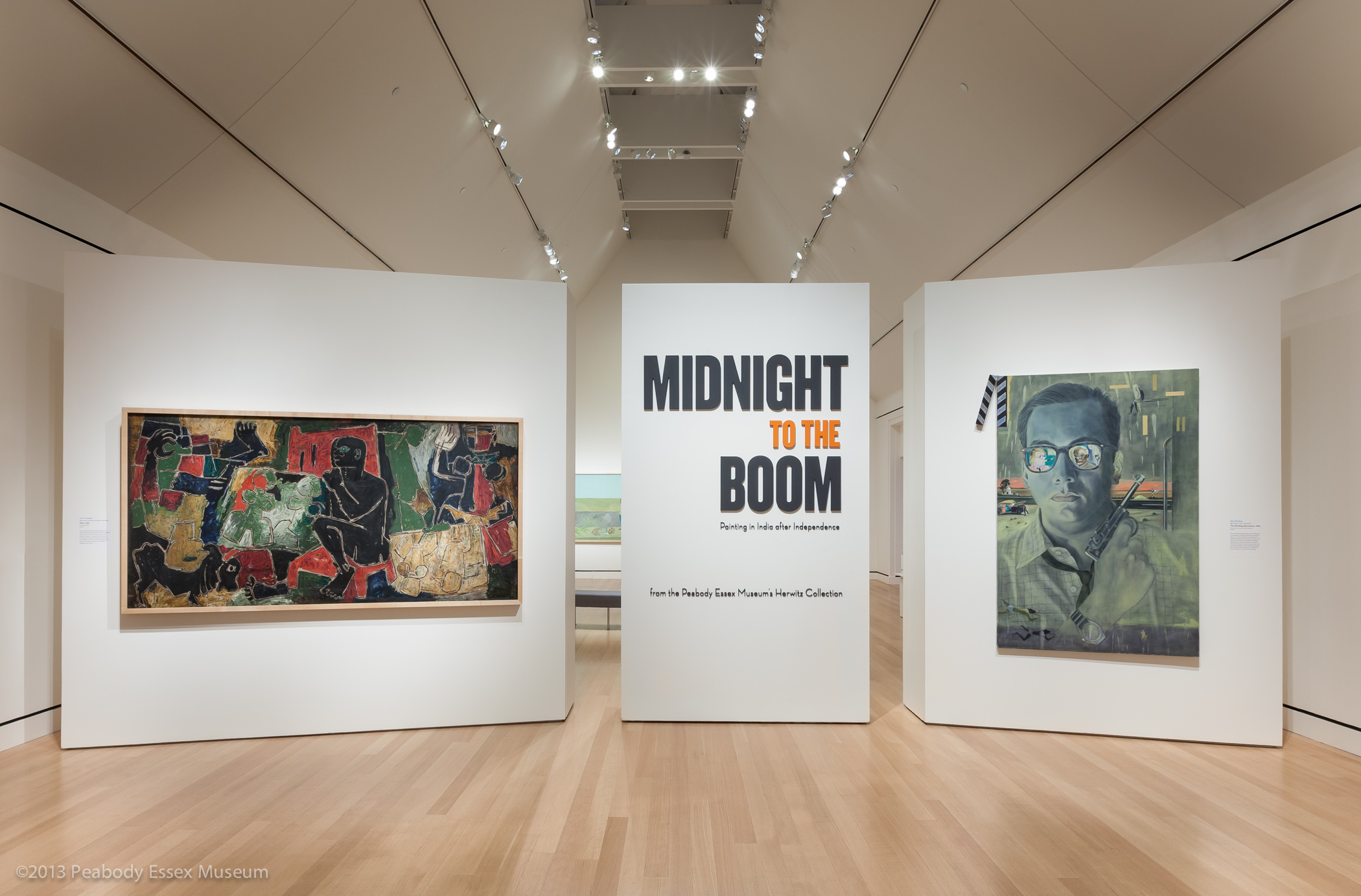 modern contemporary art of  midnight to the boom painting in after independence at the peabody essex museum 2013