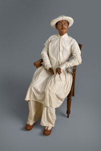 Life-size portrait in clay and cloth of Rajinder Dutta (1818 -1889), Calcutta agent for American merchants. © Peabody Essex Museum, photograph by Walter Silver.